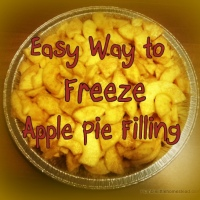 Easy Way to Freeze Apple Pie Filling