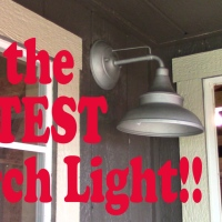 Shed to House|| We're Installing the CUTEST Porch Light EVER!!