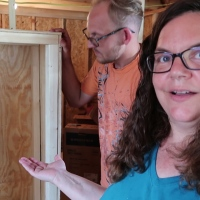 Shed To House||  We're Building Some Awesome Loft Stairs With Storage!  Part 1